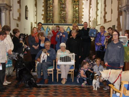 Pet service at St Andrew's United Church, Kirton Lindsey, North Lincolnshire