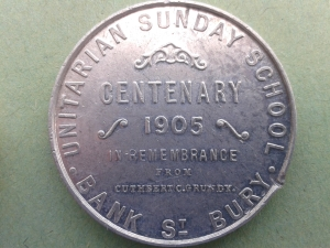 The Bury Sunday School medal