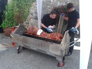 Preparing the Hog Roast