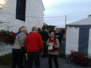 Part of the queue for the hog roast