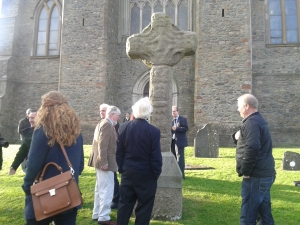After the blessing of the new cross