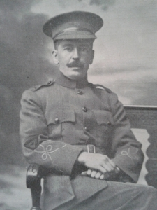 Rev Alfred Turner, minister of Templepatrick, at the front in the uniform of the YMCA