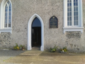 The entrance to the Ballyhemlin church