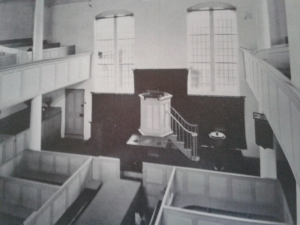 The interior of St Thomas' Chapel (from 'The Unitarian Heritage')