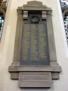 The memorial inside the chapel (Photo: Jo James)