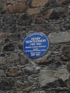 Rev Henry Montgomery (1788-1865) . Minister, teacher, reformer