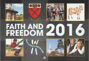 The cover of the 2016 'Faith and Freedom' Calendar - 'Faith in the World'