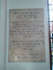 Memorial to John and Elizabeth Taylor