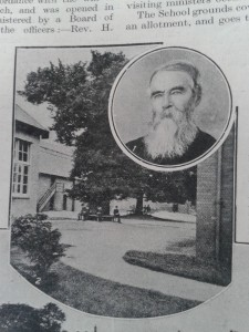 Founder Philip Barker and a view of the school from the 'Christian Life' 1913