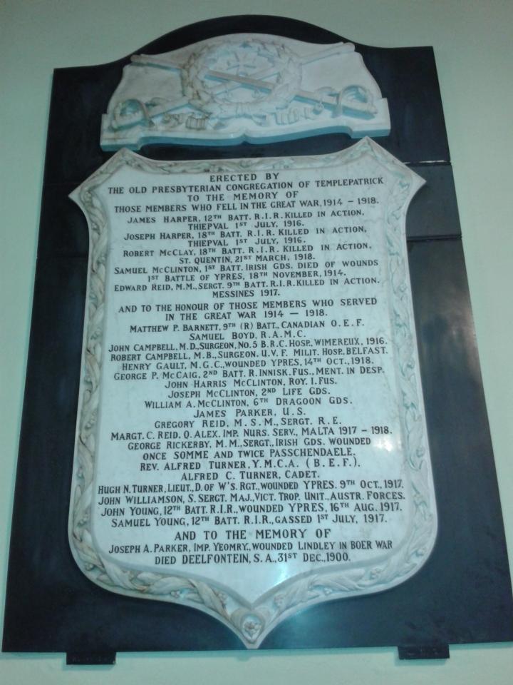 Templepatrickwarmemorial