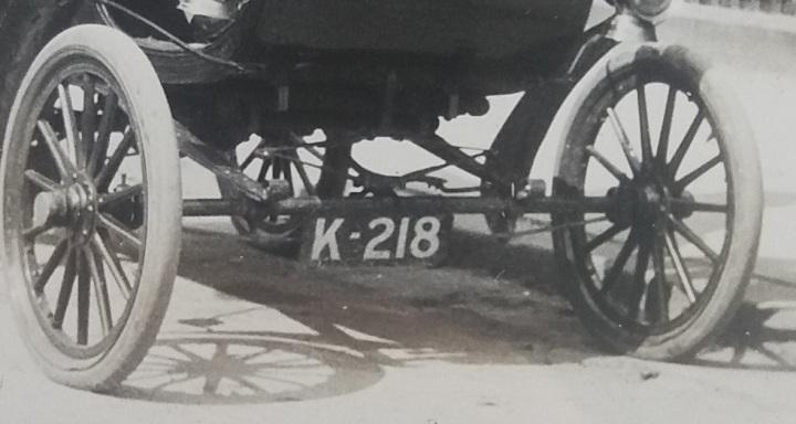 K218 numberplate