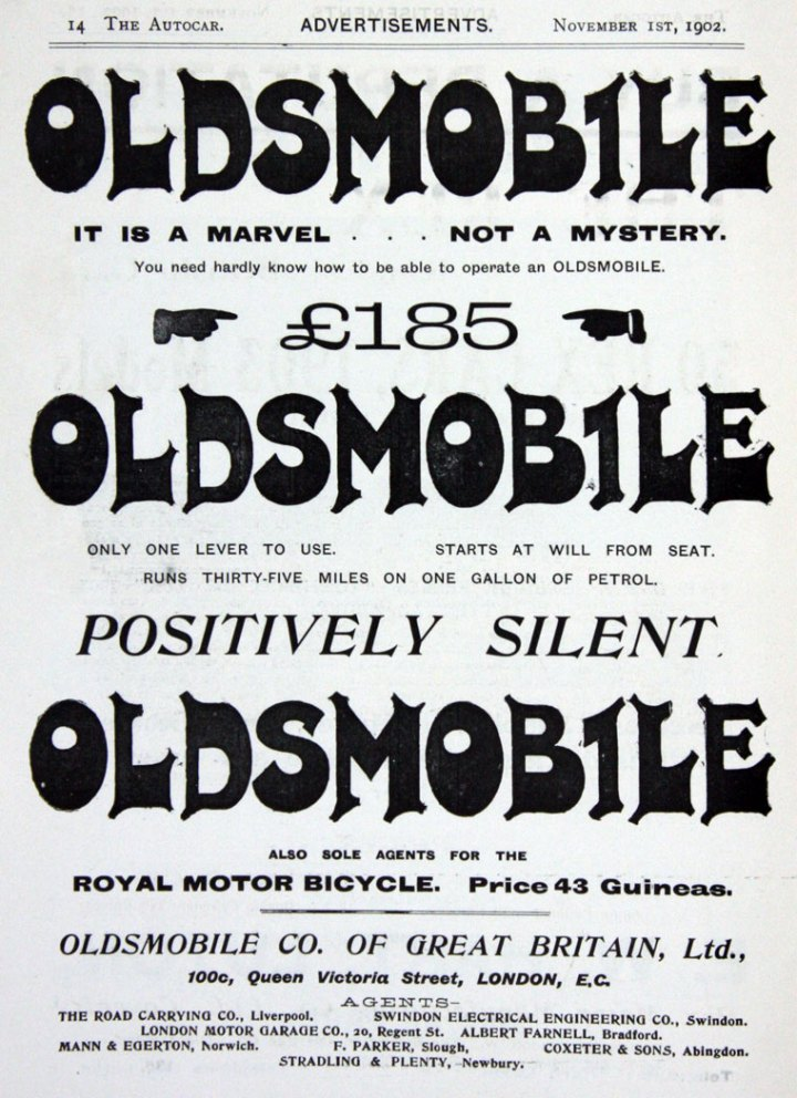 1902 Oldsmobile advert