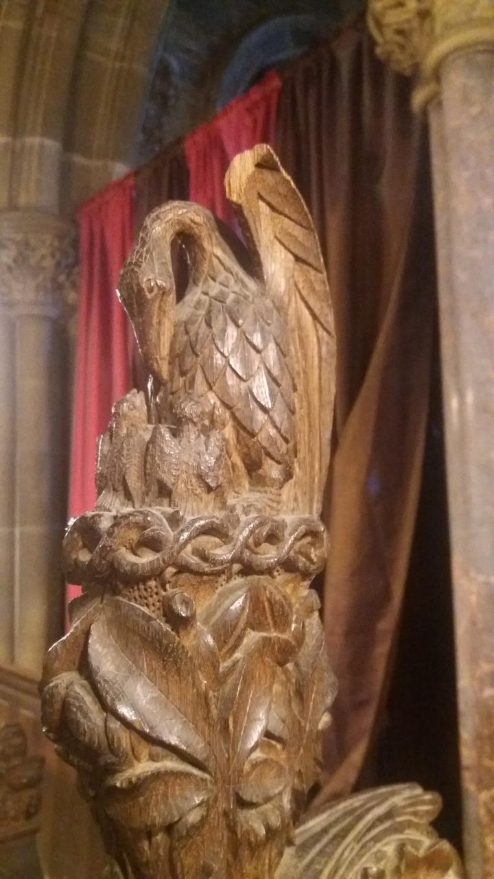 Phoenix carving