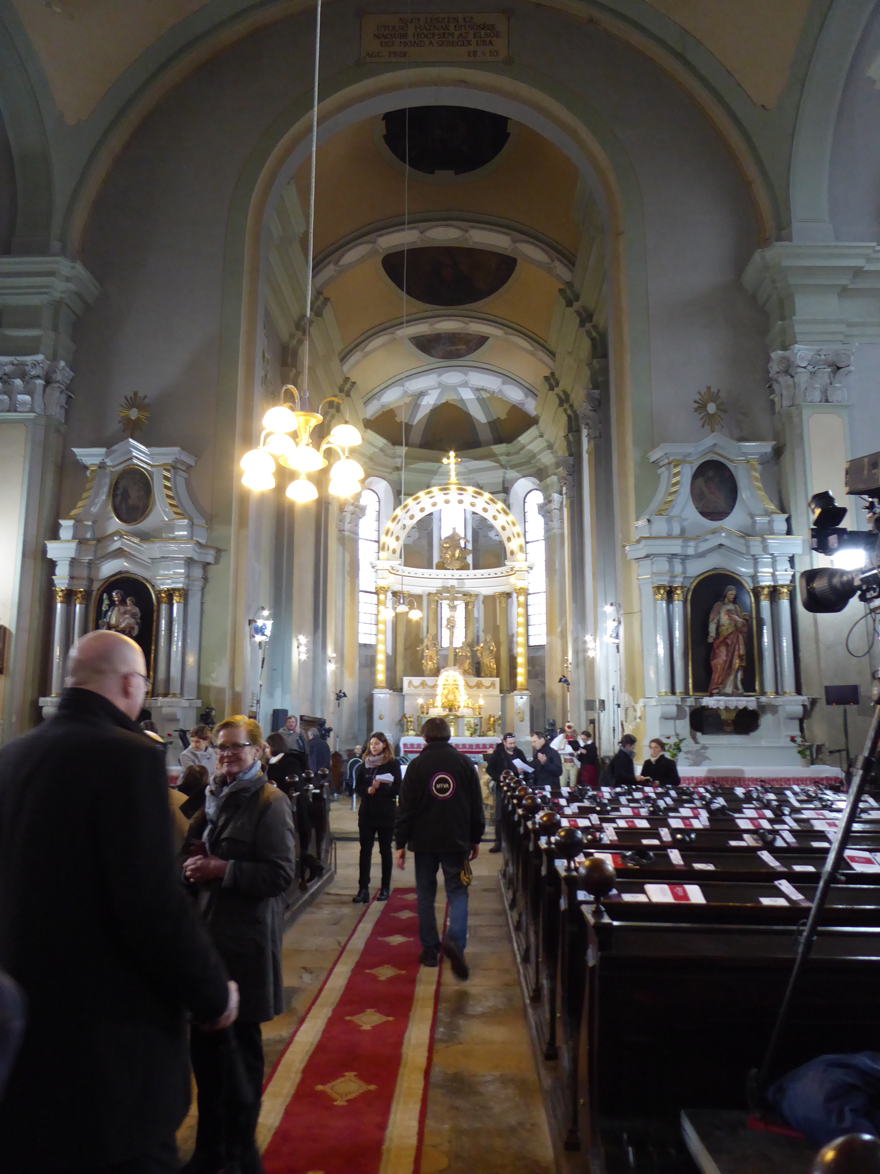 Inside the Church before the service
