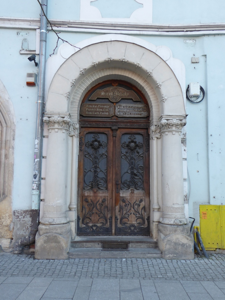 Catholic building door