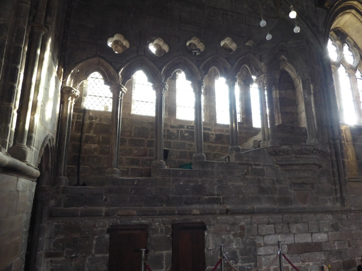 Chester Cathedral refectory pulpit stairs 02