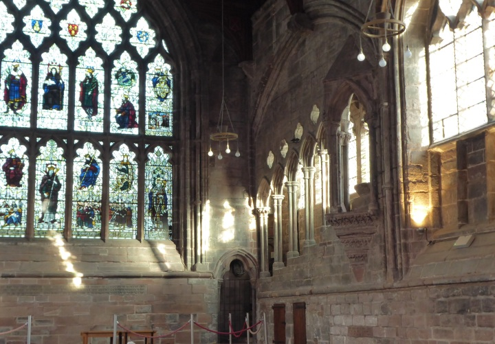 Chester Cathedral refectory pulpit stairs crop