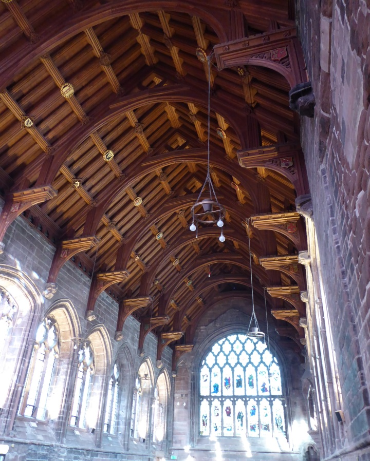 Chester Cathedral refectory roof crop