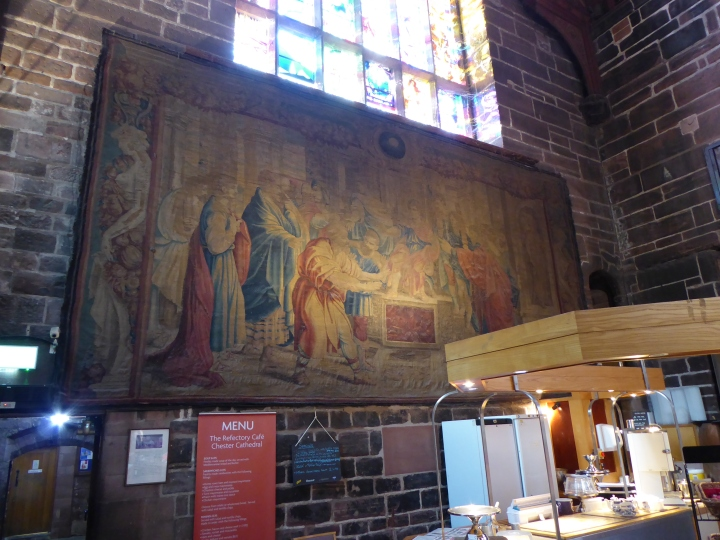 Chester Cathedral refectory tapestry