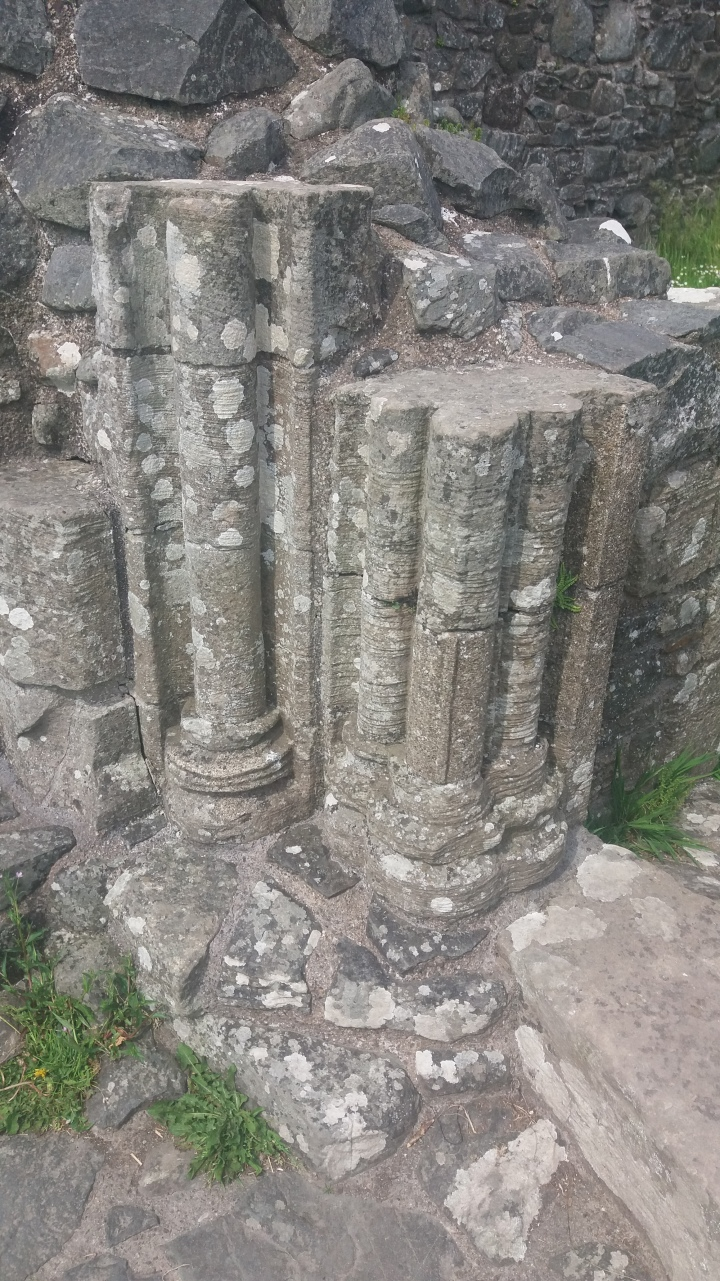 IA Inch Abbey base of columns at entrance