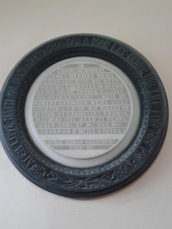 Holywood Memorial Lieut R L Neill